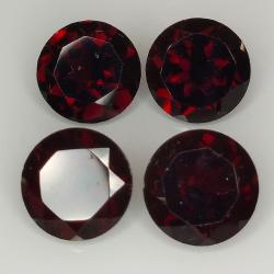 Garnet round cut 8 mm 4pz
