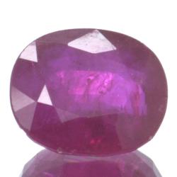 1,72ct Ruby Oval Cut