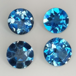 London blue topaz round cut...
