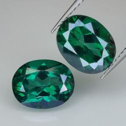 Green topaz oval cut 10x8mm...