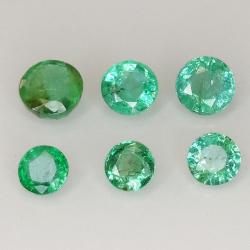 Round cut emerald 2.7-3.7mm...