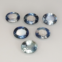 Blue sapphire oval cut...