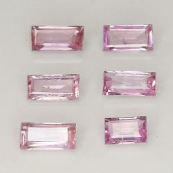 Baguette Cut Pink Ceylon...