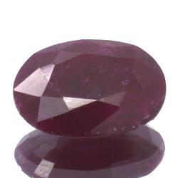1,91ct Ruby Oval Cut