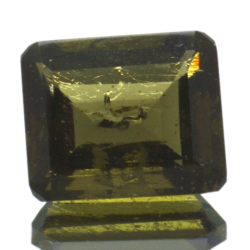 3,94ct Moldavite Emerald Cut
