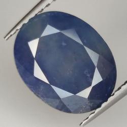 4.91ct Blue Sapphire oval...