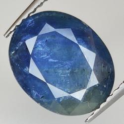 3.71ct Blue Sapphire silk...