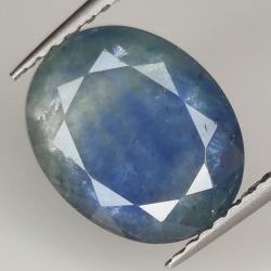 3.93ct Blue Sapphire oval...
