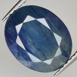 3.88ct Blue Sapphire oval...