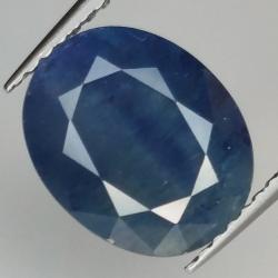 3.96ct Blue Sapphire silk...