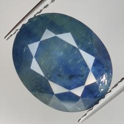 4.64ct Blue Sapphire silk...