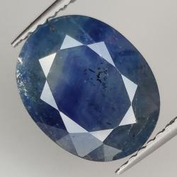 4.09ct Blue Sapphire silk...