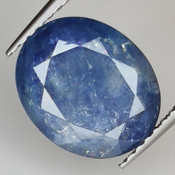 4.40ct Blue Sapphire oval...