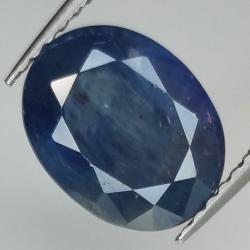 3.80ct Blue Sapphire oval...