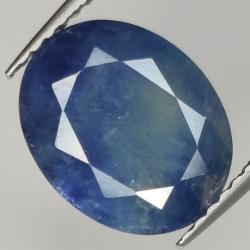 3.73ct Blue Sapphire oval...