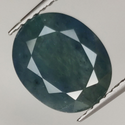 4.37ct Blue Sapphire oval...