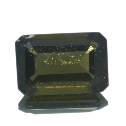 3,12ct Moldavite Emerald Cut
