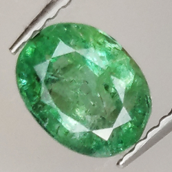 1.06ct Emerald oval cut...