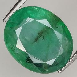 3.06ct Emerald oval cut...
