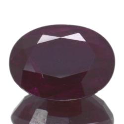 3,60ct. Ruby Oval Cut