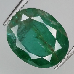 2.68ct Emerald oval cut...