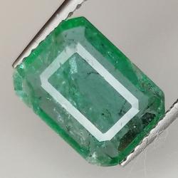 2.06ct Emerald emerald cut...