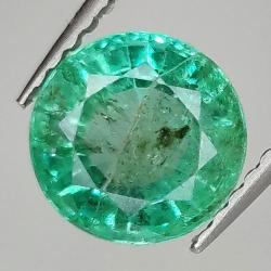 1.62ct Emerald round cut...
