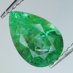 1.32ct Emerald pear cut...