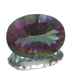 17,77ct.Mystic Quartz Oval Cut