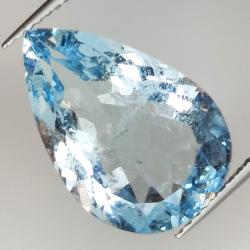 7.22ct Aquamarine pear cut...