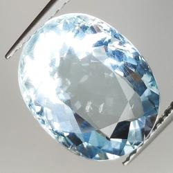 5.34ct Aquamarine oval cut...