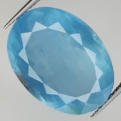 12.36ct Aquamarine oval cut...
