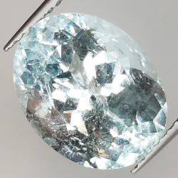 6.34ct Aquamarine oval cut...