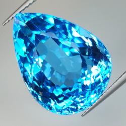 29.73ct Blue Topaz pear cut...
