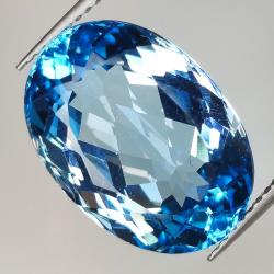 14.33ct Blue Topaz oval cut...