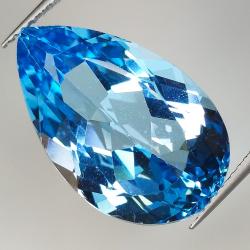 19.16ct Blue Topaz pear cut...