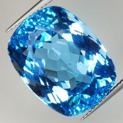 29.56ct Blue Topaz cushion...