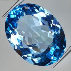18.44ct Blue Topaz oval cut...