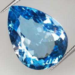 22.67ct Blue Topaz pear cut...