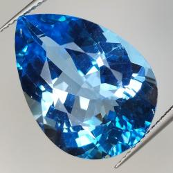 25.75ct Blue Topaz pear cut...