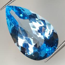 19.14ct Blue Topaz pear cut...