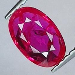 0.82ct Ruby oval cut 7.9x5.1mm