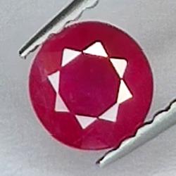 0.66ct Ruby round cut...