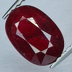 1.45ct Ruby oval cut 8.1x5.7mm