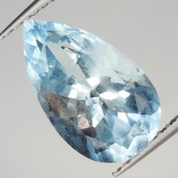 2.94ct Aquamarine pear cut...