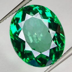 9.81ct Green Topaz oval cut...
