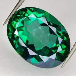 13.29ct Green Topaz oval...