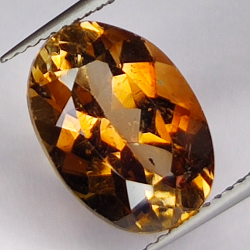 7.22ct Champagne Topaz oval...