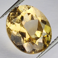 6.67ct Champagne Topaz oval...