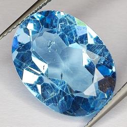 10.63ct Blue Topaz oval cut...